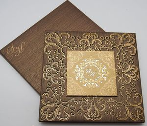 Wedding decorations Elegant Indian/muslim/bengali wedding invitation card