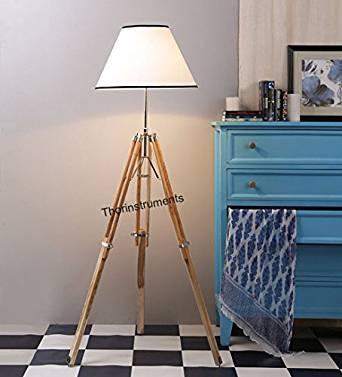 NAUTICALMART DESIGNER TRIPOD FLOOR LAMP STAND MODERN CONTEMPORARY FLOOR LAMP