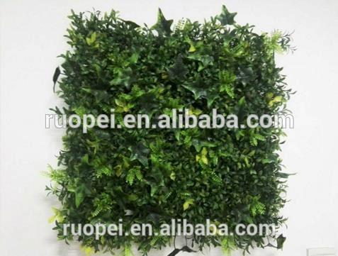 50*50 cm artificial plastic grass leaf wholesale for decoration
