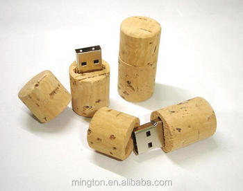 2GB cork Wood USB flash memory