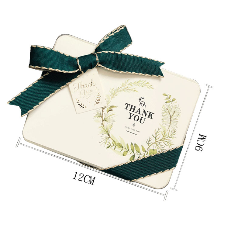 Free sample Hot Selling Cheap Custom Nordic style green tinplate candy box packaging box