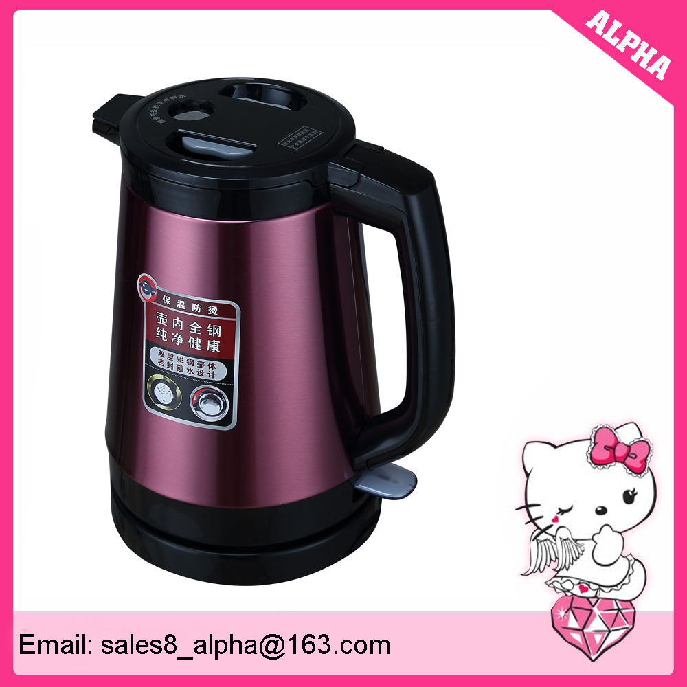 1.8 liter colour painting stainless steel electric tea kettle with child lock