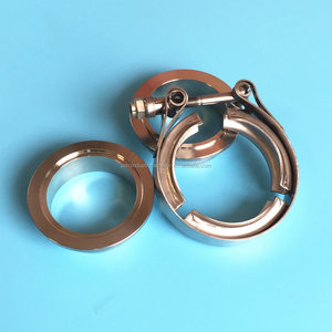 S.S turbo v-band clamp kit with male female flanges