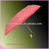 Pretty custom design pink rain umbrella