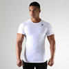 New Fitness Gym Men 95% cotton 5%Spandex Sport Tshirt