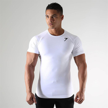 Neue Fitness Gym <span class=keywords><strong>Männer</strong></span> 95% <span class=keywords><strong>baumwolle</strong></span> 5% Spandex Sport <span class=keywords><strong>T-shirt</strong></span>