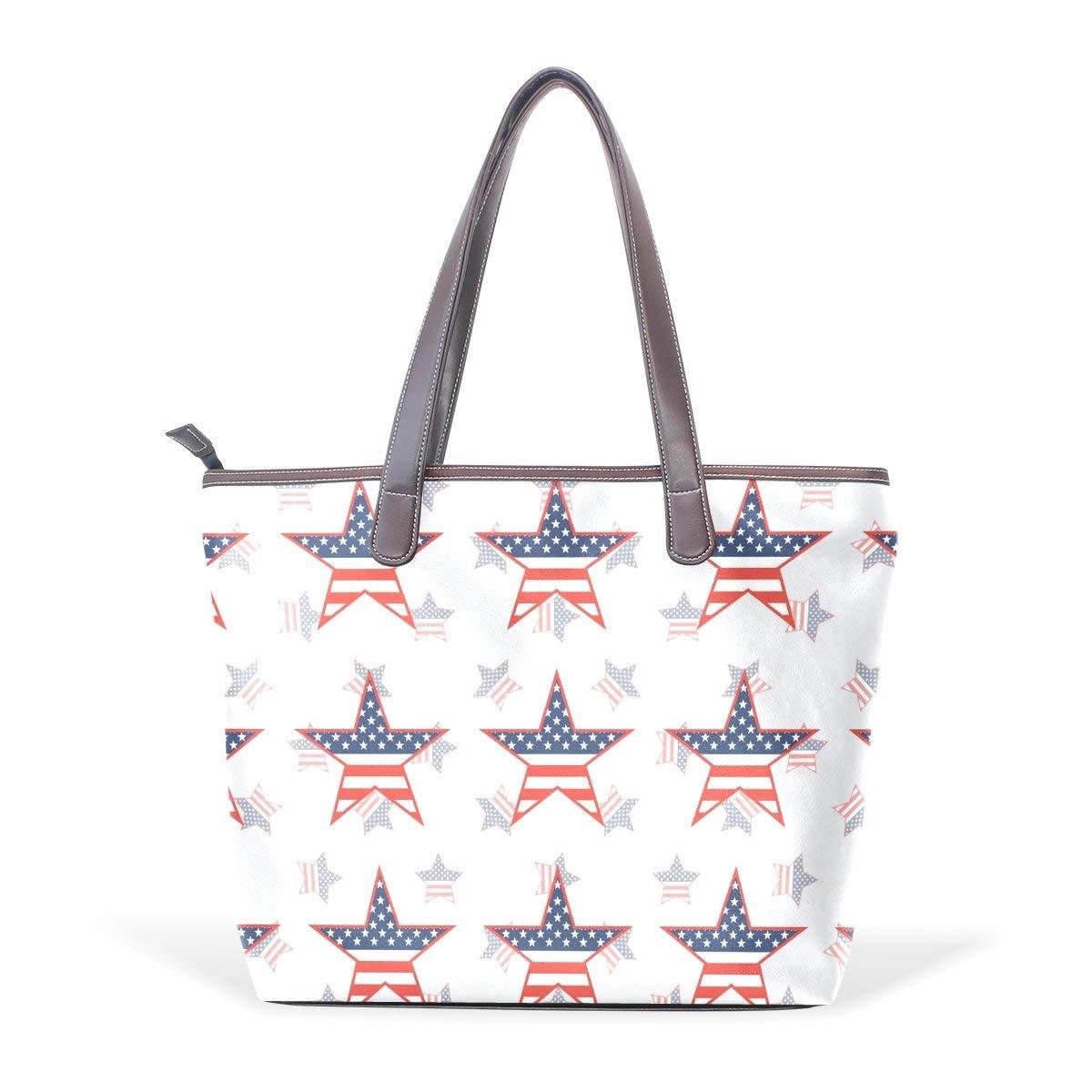 Vintage American Flag Freedom Womens Fashion Large Tote Ladies Handbag Shoulder Bag