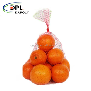 Made in China poly mesh net packing bag for fresh fruit apple orange pear
