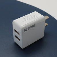 5v 2.1a universal dual usb wall charger 2 port 12v travel charger adapter usb