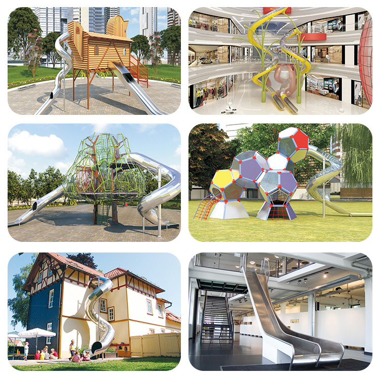 Best selling unique design combination stainless steel playground slide for wholesale