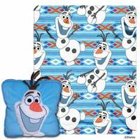 . Frozen All About Olaf 2 Piece Fleece Throw and Pillow Set