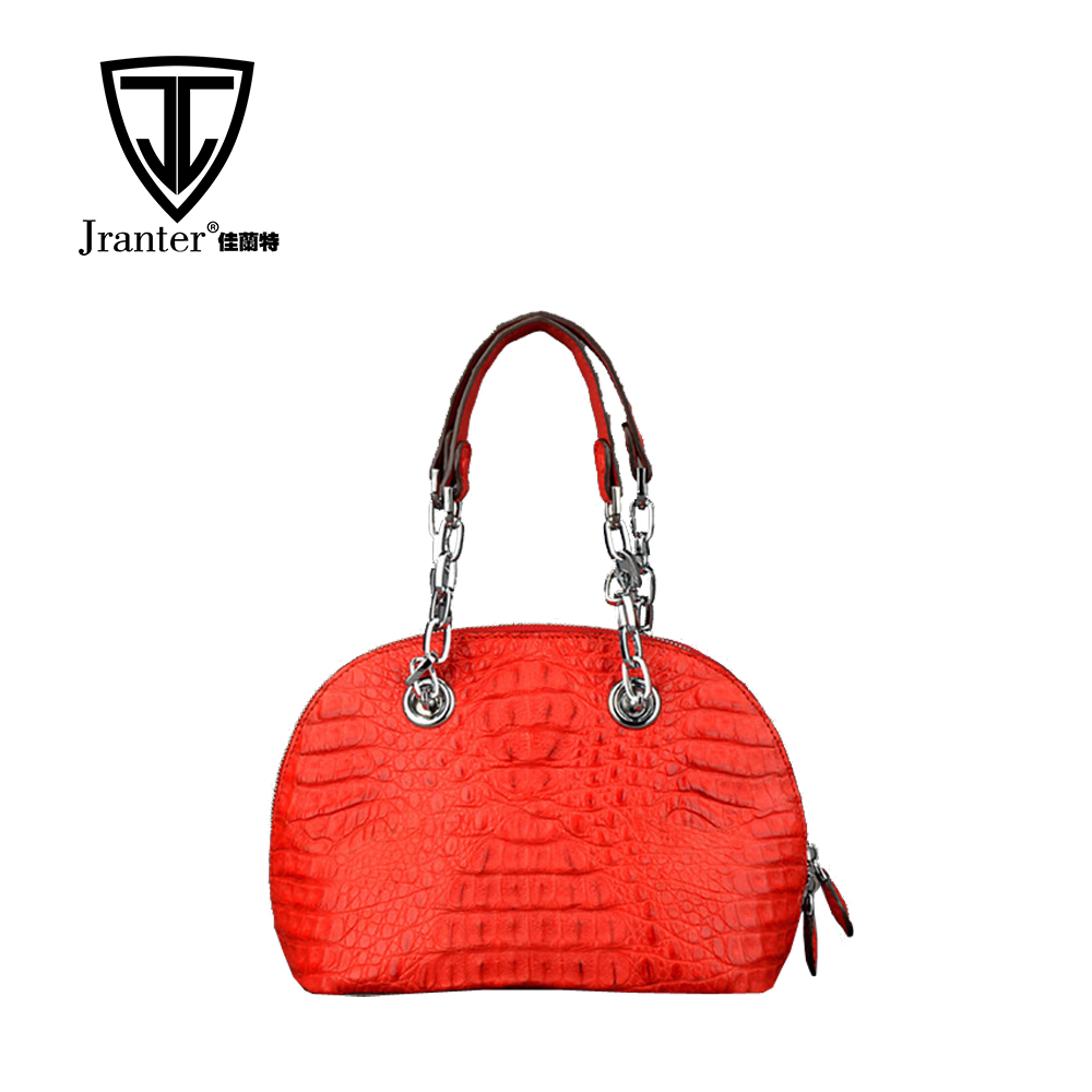 New arrival fasthion genuine crocodile leather handbag women shell handbag shoulder bag