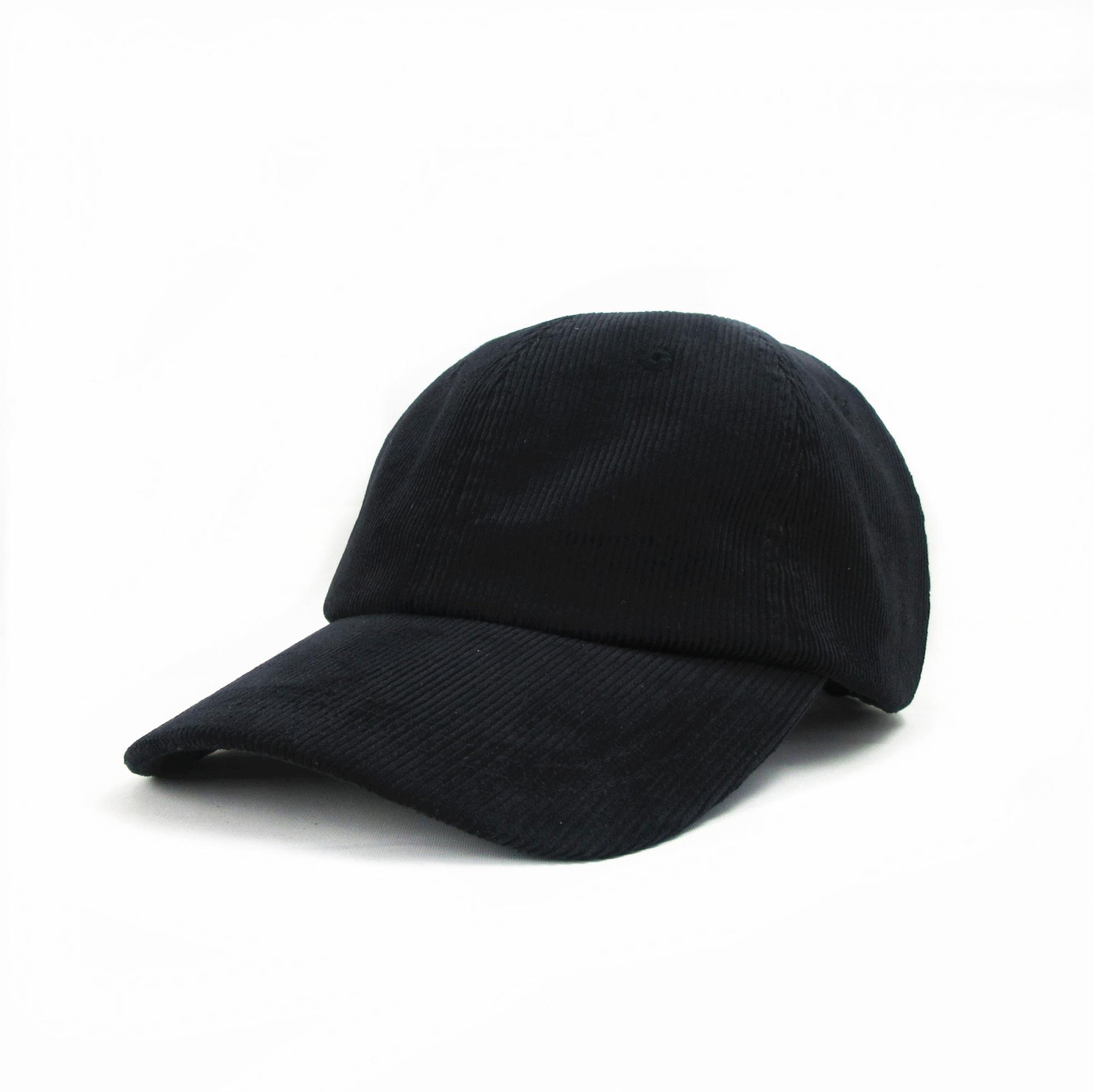 6 Panel Plain Corduroy Strapback Baseball Cap - Buy Plain Baseball ... e81ea3de668