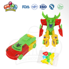 car transforming toy candies plastic transforming robot toys