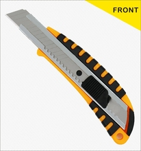 Plastic retractable utility knife tool with sk5 carbon steel blade