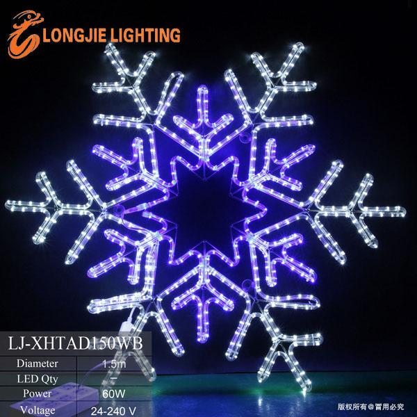 150cm leidde grote sneeuwvlok kerst raam licht