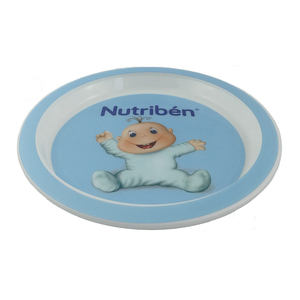 OEM/ODM melamine like plastic plate baby plate with in mold label decoration