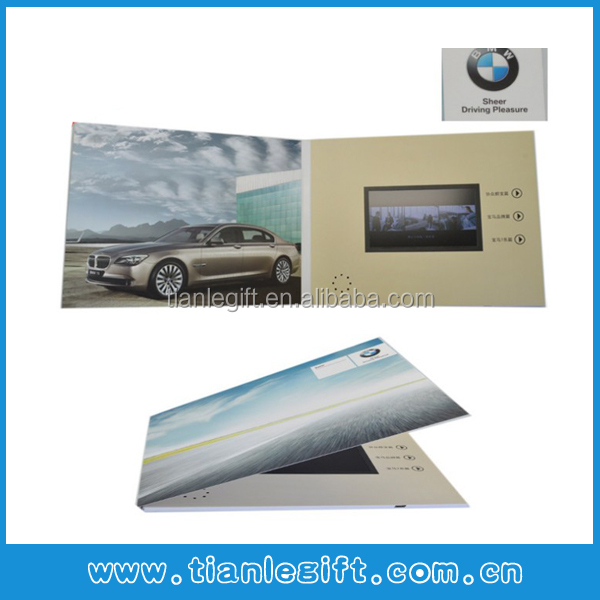 BMW!!! Promotional unique video invitation cards,LCD video card, video mailer
