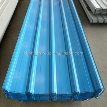 The Blue 0.5mm Thick Cheap Flexible Metal Roofing Sheets