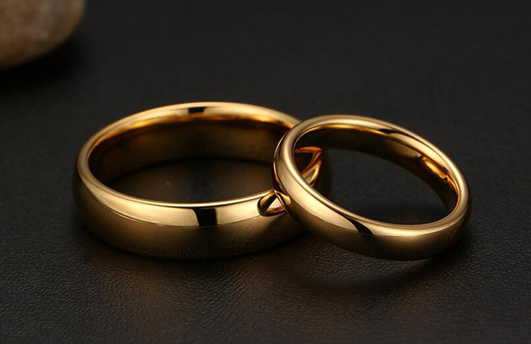 Gold Tungsten Wedding RingEngagement and Wedding Ring SetLatest