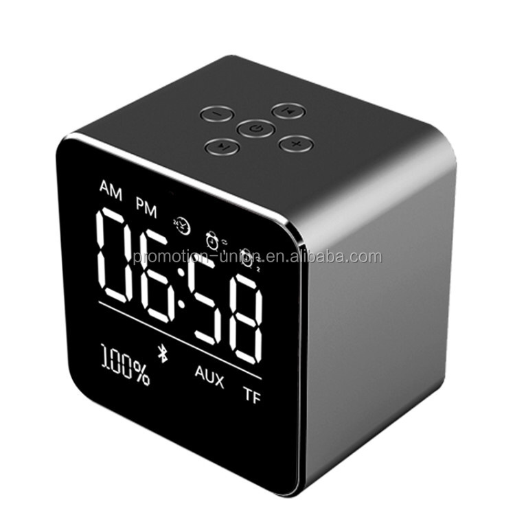 Best metal bluetooth speaker LED Light alarm clock portable bluetooth speakers