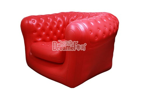 Factory direct lounger pvc folding inflatable single sofa