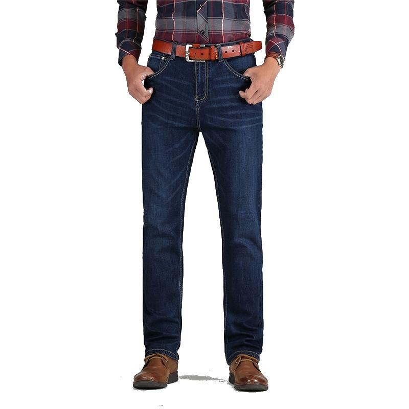 d4bd32893 Clásico hombre elástico pantalones vaqueros lavados pantalones vaqueros al  por mayor Loose fit Denim jeans