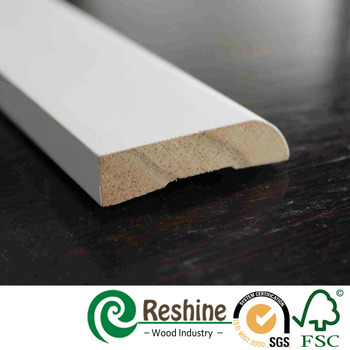 White Primed Solid Wood Wall Baseboard Bullnose Moulding - Buy Bullnose  Moulding,Baseboard Bullnose Moulding,Solid Wood Bullnose Moulding Product  on
