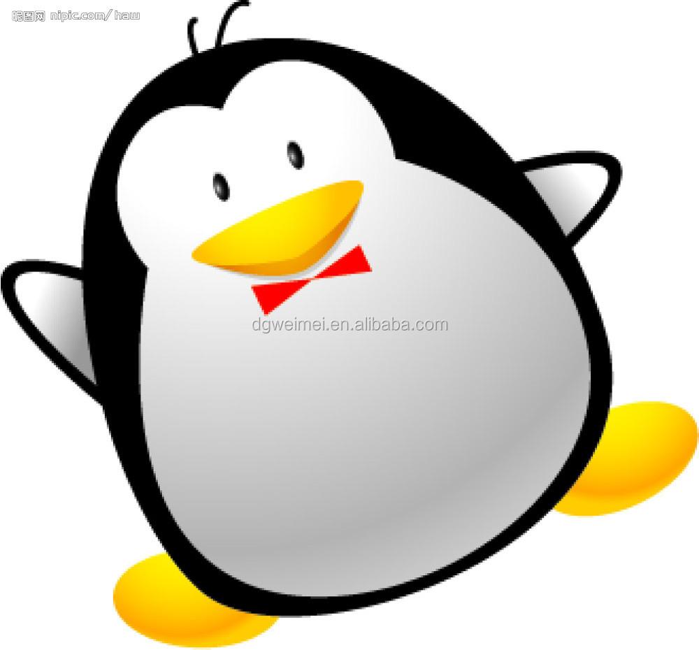 Customzied Lucu Kartun Penguin Dengan Syal Sementara Stiker Tato