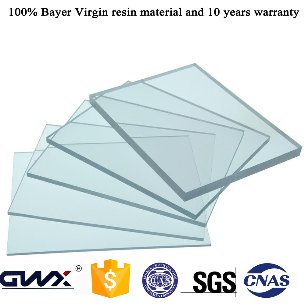 16mm Double Side UV Polycarbonate Solid Sheet Greenhouse Roofing Sheet