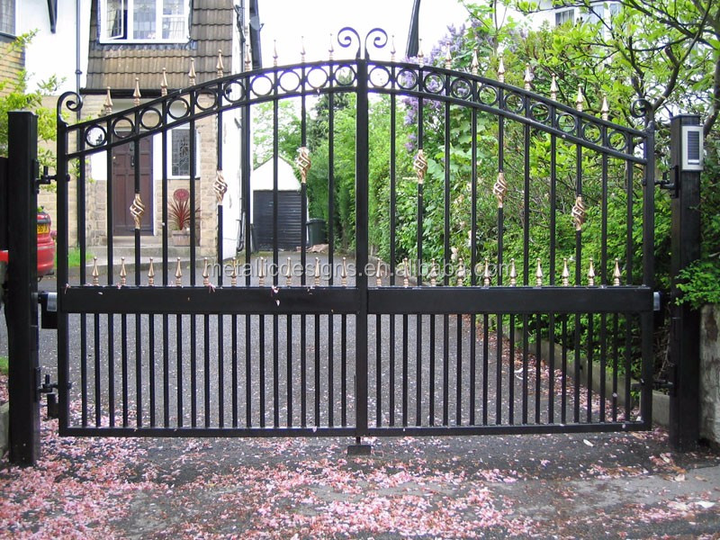 Manufacturer supplier automatic steel gate prices for Aluminum driveway gates prices