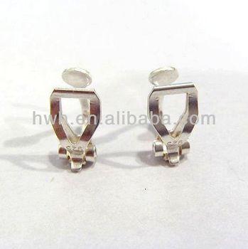 H1409 Sterling Silver Ear Clip Non Pierced Earring Findings