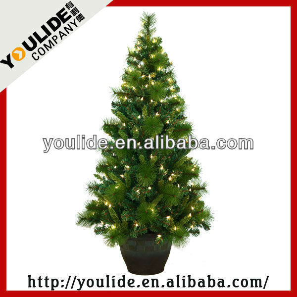 Pre Lit Led Christmas Tree With Pot Stand,Pine Mixed Christmastree ...