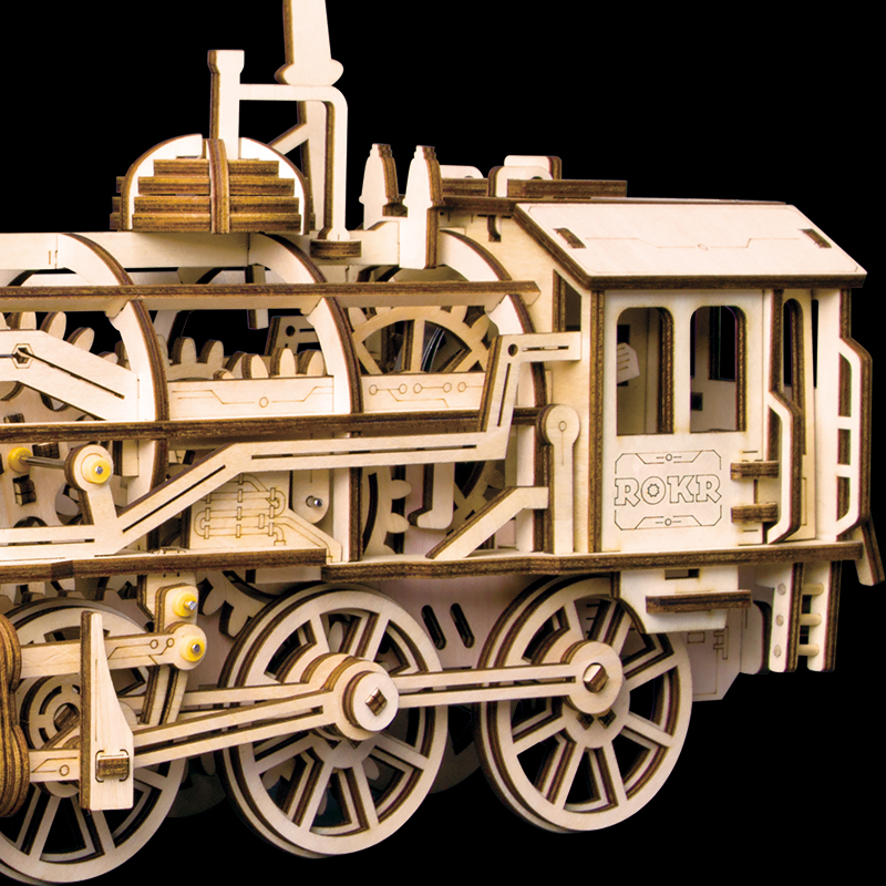 ROKR Self-Propelled Mechanical locomotive 3D Wooden Puzzle