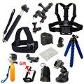 Gopro accessories Set tripod monopod Chest Belt Head Mount Strap For Go pro hero4 3 5