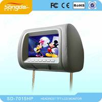 USB input Clear image 7 inch LCD portable Monitor with headrest monitor