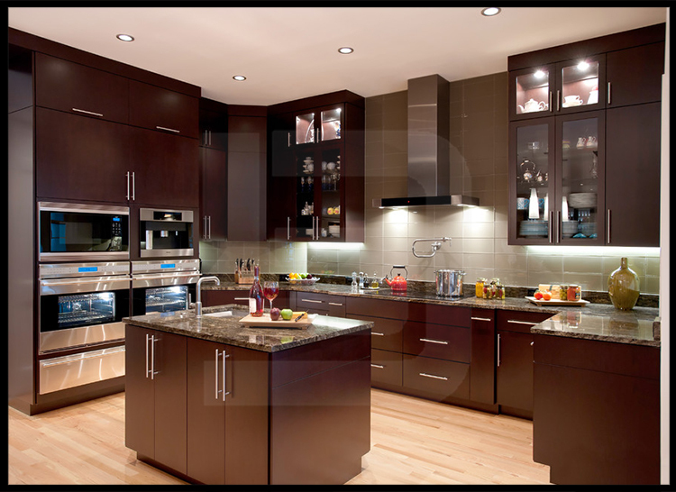 Alibaba modular home teak wood kitchen cabinet for indoor for Can you paint non wood kitchen cabinets
