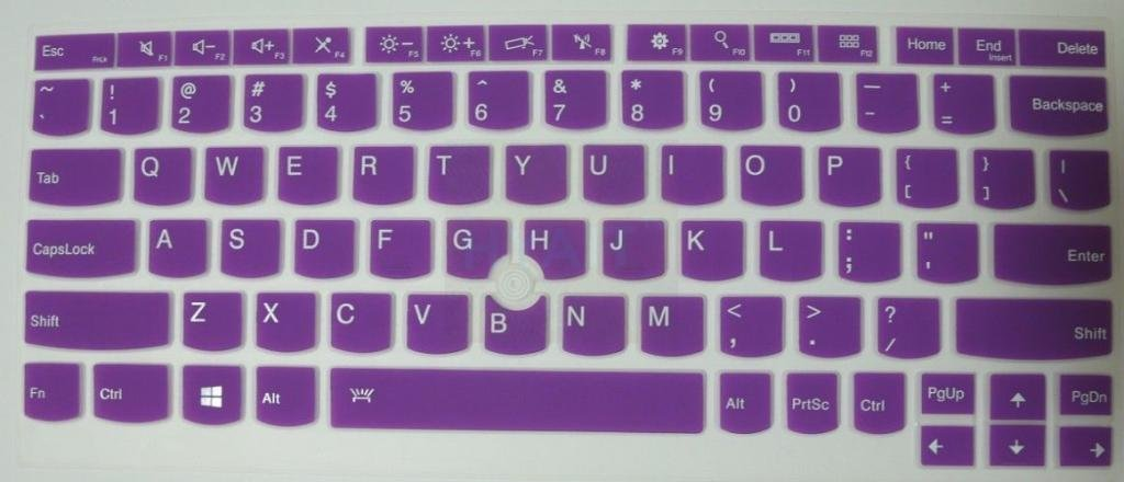 HYAIT 1Pcs Colorful Silicone Keyboard Protector Skin Cover for ThinkPad X230S X240 X240S YOGA S1 SEMI-PURPLE
