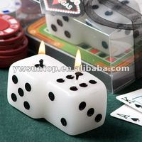 Lucky Seven Dice Shaped Candle Favors