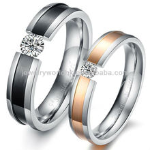 china jewelry stainless steel, Fashion diamond love wedding couple 361L stainless steel china jewelry stainless steel