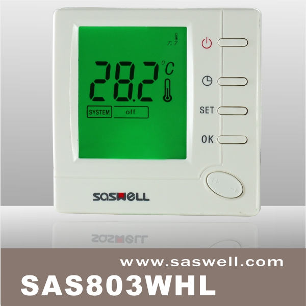 Hot Sale 7 Day Programmable Central Air Conditioning 4-pipe Key Switch Flush Mount LCD Digital Smart Thermostat