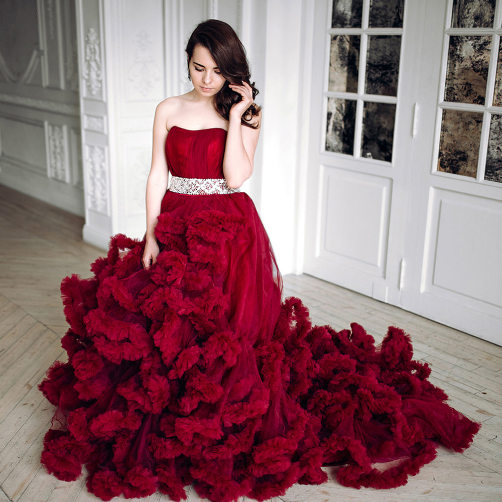 Red Maternity Wedding Dresses 19