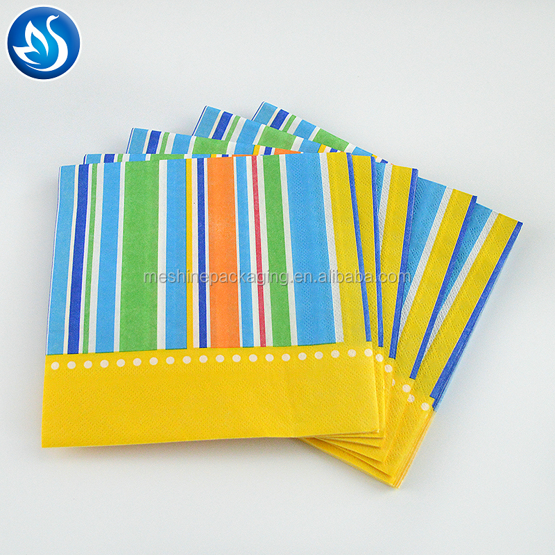 High quality raw material dinner 25x25cm size paper serviettes napkins for restaurant