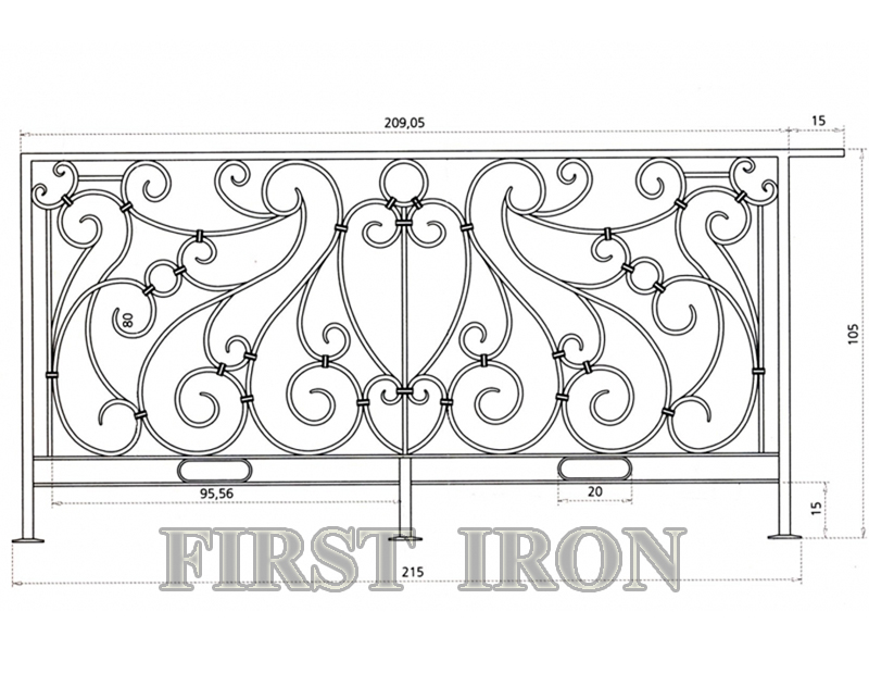 Italian wrought iron balcony railing design, iron balcony CAD drawing design