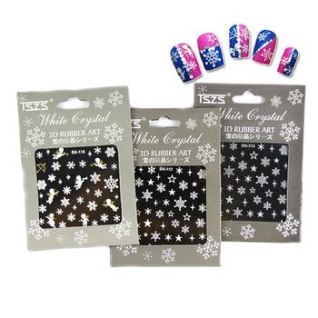 Tszs Brand Nail Art Decoration Supplies Snowflakes Design Vinyl Nail