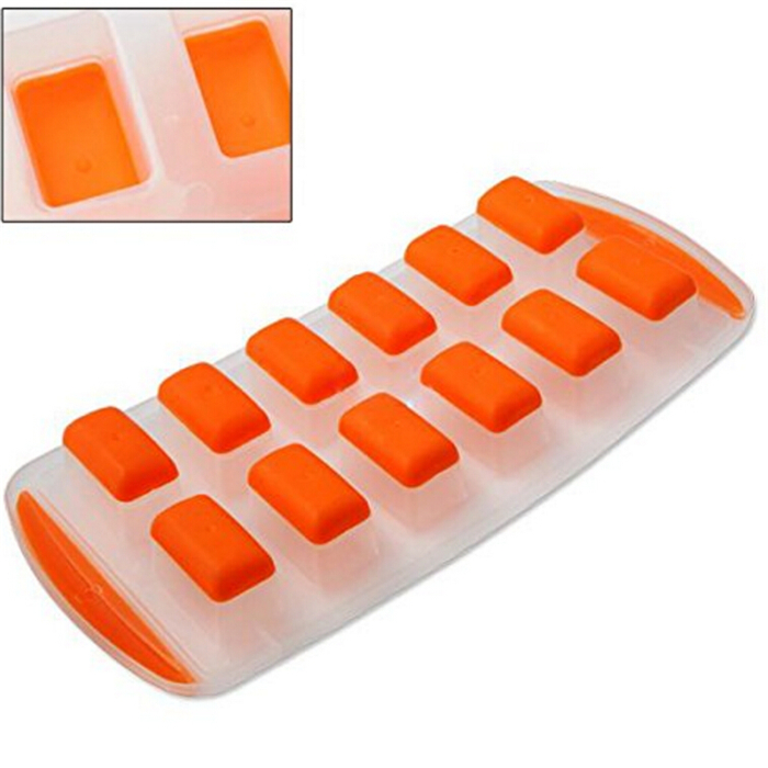 Ice Cube Mold Ice Tray Silicone Bottoms Soft Easy Ice Removal Mold Freezer