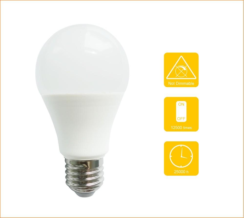 New 25000 Hours Lifespan Dimmable 110v 220v E27 Led Light Bulb ...