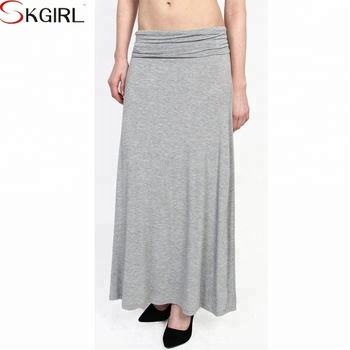 bdeabd9a2 Casual high waist solid jersey wholesale ladies gypsy maxi skirt long for  women