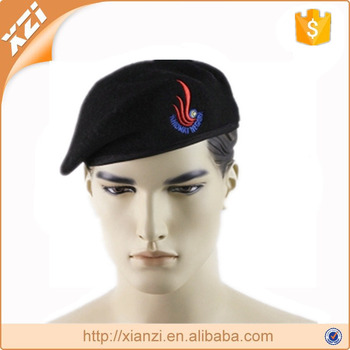 Wholesale Black Beret Military Basque Men's Wool Beret