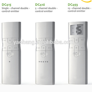 Dooyarf 433mhz remote control motorized curtain , dc1660 dc1662 dc1663  1-5-15 channels for automatic curtain motor transmitters